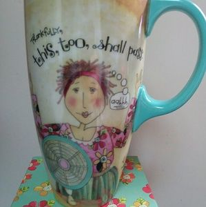 """Hot Mama"" Latte Mug NWT"